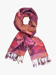 Chesca Autumn Floral Print Scarf Plum Multi