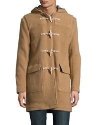 Brooks Brothers Wool Blend Toggle Coat Brown