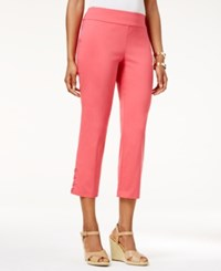 Jm Collection Lace Up Hem Capri Pants Only At Macy's Perfect Rose