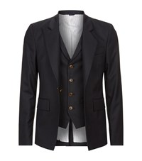 Vivienne Westwood Classic Tailored Waistcoat Jacket Male Grey