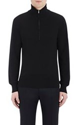 Maison Martin Margiela Maison Margiela Men's Leather Patch Knit Sweater Black