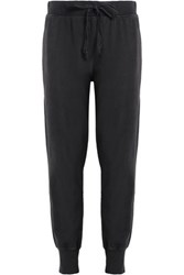 Current Elliott Cotton Terry Track Pants Dark Gray