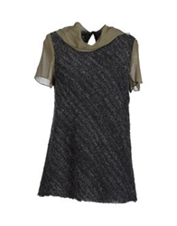 Hache Short Sleeve Sweaters Brown