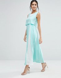 Jovonna Jovanna Eternity Maxi Dress With Overlay Top Green
