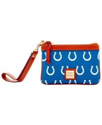 Dooney And Bourke Indianapolis Colts Exclusive Wristlet Blue