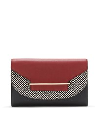 Vince Camuto Eda Leather Clutch Oxford