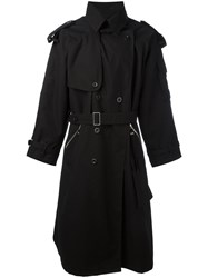 Blood Brother Insignia Trench Coat Black