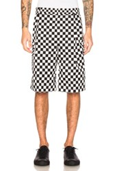 Givenchy Checkerboard Print Shorts In Black White Checkered And Plaid Black White Checkered And Plaid