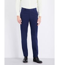 Richard James Regular Fit Straight Cotton Trousers Navy