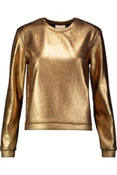 Mason By Michelle Mason Coated Knitted Top Gold