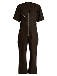 Isabel Marant Talma Cotton Jumpsuit Black