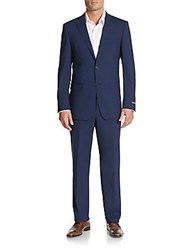 Michael Kors Regular Fit Solid Stretch Wool Suit Navy