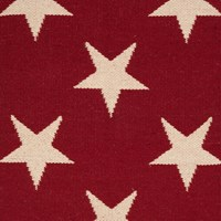 Dash And Albert Star Rug Red Ivory 61 X 91 Cm