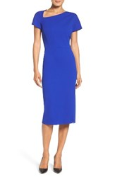 Maggy London Women's Asymmetrical Sheath Dress Royal Sapphire