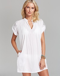 Lauren Ralph Lauren Crushed Cotton Darcy Swim Cover Up Tunic White