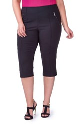 Michel Studio Plus Size Women's Alexa Ponte Capri Pants