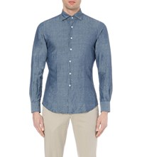 Slowear Slim Fit Chambray Shirt Blue