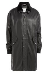 Mcq By Alexander Mcqueen Mcq Alexander Mcqueen Leather Coat Black