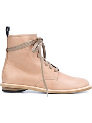 Valas Lace Up Ankle Boots Nude And Neutrals