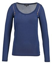 Morgan Tebus Long Sleeved Top Marine Dark Blue