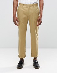 Religion Straight Leg Cropped Trousers In Camel Camel Beige