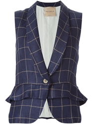 Erika Cavallini Semi Couture Checked Fitted Waistcoat