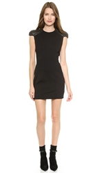 Pierre Balmain Studded Cap Sleeve Dress Black