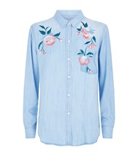 Rails Chandler Embroidered Denim Shirt Blue