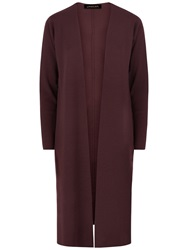 Jaeger Longline Wrap Cardigan Chocolate