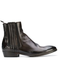 Silvano Sassetti Pull On Ankle Boots Brown