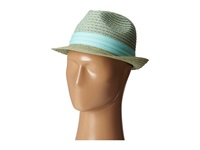 Vince Camuto Patterned Straw Fedora Mint Fedora Hats Green