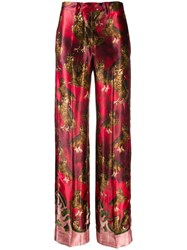 F.R.S For Restless Sleepers Owl Print Trousers Red