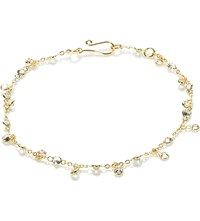 Annoushka 18Ct Yellow Gold And White Sapphire Nectar Jasmine Droplet Bracelet