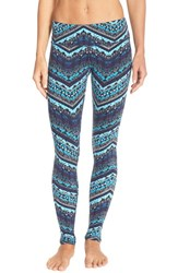 Alo Yoga Women's Alo 'Airbrushed' Glossy Leggings Seaport Blue Islandic Print