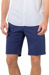 7 Diamonds Men's Slim Fit Brushed Twill Shorts Navy