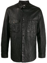 Zadig And Voltaire Leather Crinkled Shirt 60