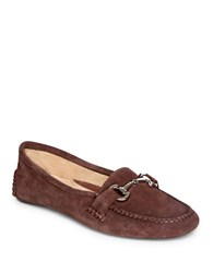 Patricia Green Carrie Suede Driver Moccasins Chocolate