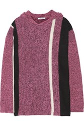 Alexander Wang T By Hooded Wool Blend Sweater Pink