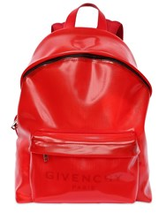 Givenchy Logo Backpack Red