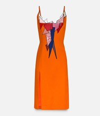 Christopher Kane Strappy Smash Motif Fitted Dress Yellow And Orange