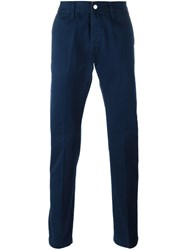 Edwin Straight Leg Trousers Blue