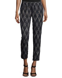 Haute Hippie Original Slim Shady Jogger Pants Black Buff Swan
