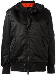 Diesel Ruffle Trim Bomber Jacket Black