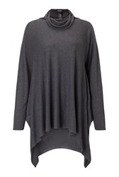 James Lakeland Side Drape Polo Neck Grey