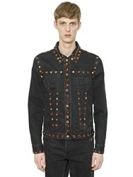 Givenchy Studs And Stones Cotton Denim Jacket
