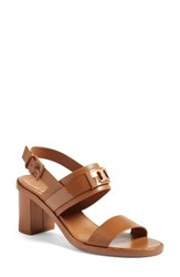 Tory Burch Women's Gigi Block Heel Sandal Royal Tan