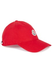 Moncler Red Cotton Twill Cap