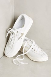 Anthropologie Tretorn Leather Sneakers White