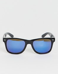 7X Svnx Square Frame Sunglasses In Black