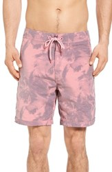 Original Paperbacks Men's Venice Palms Board Shorts Scarlet